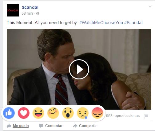 Facebook reactions muestra diferentes emociones ante una publicación